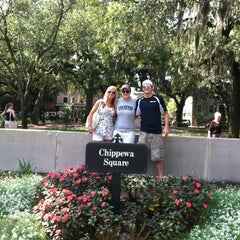 Photo taken at Forrest Gump's Bench (former location) by Jon S. on 9/2/2013