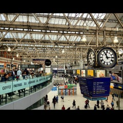 Photo taken at London Waterloo Railway Station (QQW) by Ree S. on 9/21/2012