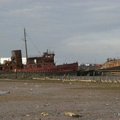 Photo taken at Staten Island Tugboat Graveyard by Untapped Cities on 4/25/2013