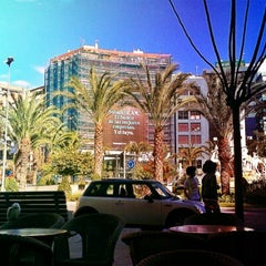 Photo taken at Plaza de Los Luceros by Eugenia A. on 10/27/2012