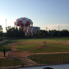 Photo taken at Joe Cannon Stadium by Hayley P. on 7/15/2013