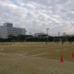 Photo taken at 習志野市茜浜グラウンド by Masahiko A. on 11/2/2012