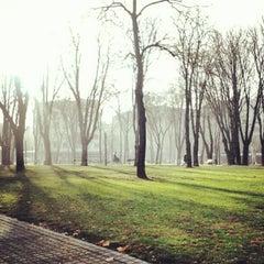 Photo taken at Tašmajdanski park by Petar C. on 12/24/2012