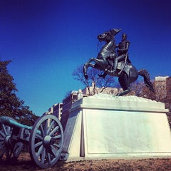 Photo taken at Andrew Jackson Statue by Valter X. on 3/13/2014