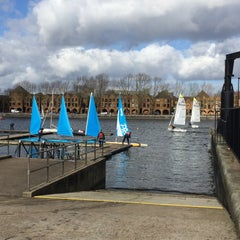 Photo taken at Surrey Docks Watersports Centre by Anna K. on 3/1/2015