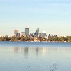 Photo taken at Lake Calhoun by Rob K. on 9/23/2012