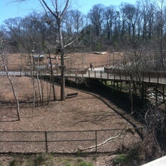 Photo taken at Piedmont Park Dog Park by Josh W. on 3/7/2013