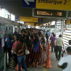Photo taken at Estación Tomás Valle - Metropolitano by Rafael O. on 1/16/2013