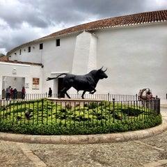 Photo taken at Plaza de Toros de Ronda by Felix B. on 5/20/2013