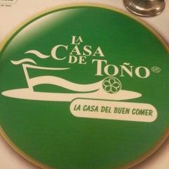 Photo taken at La Casa de Toño by Aldo on 4/10/2013
