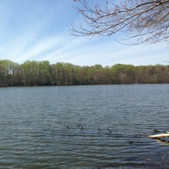 Photo taken at Burke Lake by Rory W. on 4/17/2013