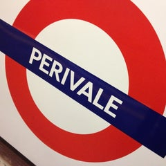 Photo taken at Perivale London Underground Station by Rob O. on 10/25/2012