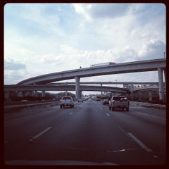 Photo taken at Spaghetti Junction (Tom Moreland Interchange) by Angela W. on 3/30/2013