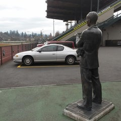 Photo taken at Hayward Field by Lynn C. on 11/19/2014