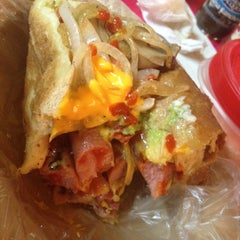 Photo taken at Diablos Super Hot Dogs by Alain C. on 5/15/2014