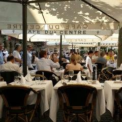Photo taken at Café du Centre by Yves M. on 7/23/2013