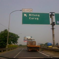 Photo taken at Exit tol curug / bitung by Guna A. on 10/3/2012