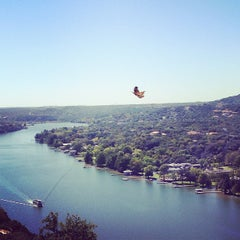 Photo taken at Covert Park at Mt. Bonnell by Richard B. on 10/19/2012