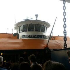 Photo taken at Staten Island Ferry Boat - Andrew J. Barberi by ſeʍ ˥ǝ L. on 10/12/2012