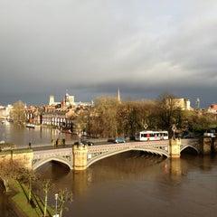 Photo taken at Skeldergate Bridge by Toby U. on 2/2/2013