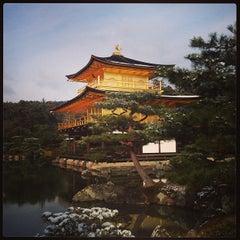 Photo taken at 北山 鹿苑寺 (金閣寺) (Kinkaku-Ji Temple) by masa0x80 on 2/9/2013