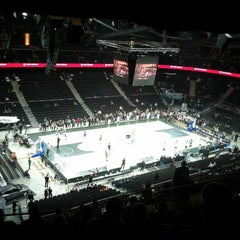 Photo taken at Žalgirio Arena | Zalgiris Arena by Liudas S. on 11/23/2012