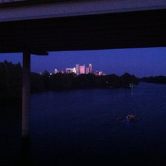 Photo taken at Lady Bird Lake Under Mopac Bridge by Jorge Davis L. on 9/26/2012