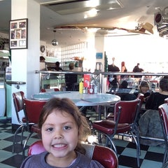 Photo taken at Woodies Longboard Diner by Marc L. on 1/19/2014