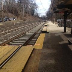 Photo taken at SEPTA St. Davids Station Inbound Platform by Kim K. on 2/21/2013