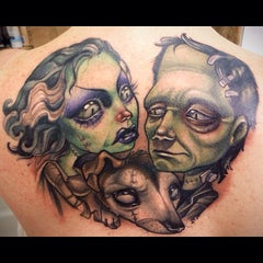 Photo taken at Ink and Dagger Tattoo Parlour by Ben F. on 2/2/2014