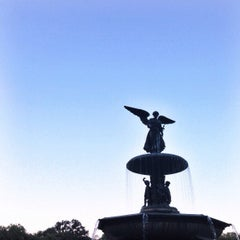 Photo taken at Bethesda Fountain by Jeff G. on 8/24/2013