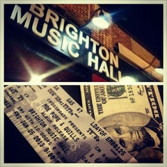 Photo taken at Brighton Music Hall by TeLisa D. on 1/26/2013