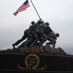 Photo taken at US Marine Corps War Memorial (Iwo Jima) by Robert R. on 12/7/2012
