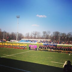 "Photo taken at Stadionul Național de Rugby ""Arcul de Triumf"" by Horia U. on 3/21/2015"