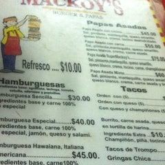 Photo taken at Mackoy's Burger & Papas by Claudia T. on 10/15/2012