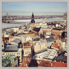 Photo taken at Vecrīga | Старая Рига | Riga Old town by Виктор М. on 4/6/2013