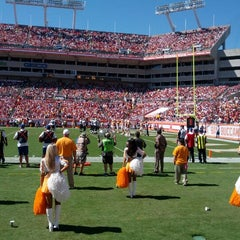 Photo taken at Raymond James Stadium by Graffiti J. on 10/21/2012