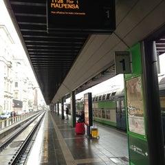 Photo taken at Malpensa Express (Cadorna) by Kirill Z. on 1/21/2013