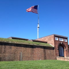 Photo taken at Fort McHenry National Monument and Historic Shrine by John C. on 9/23/2012