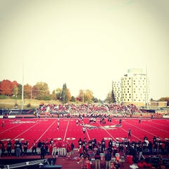Photo taken at Roos Field by Lance K. on 10/20/2013