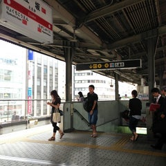 Photo taken at 江坂駅 (Esaka Sta.) (M11) by Tsuyoshi I. on 6/27/2013