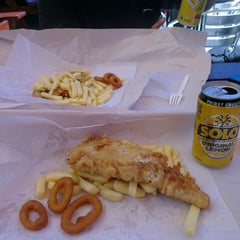 Photo taken at Williamstown Mussels Fish & Chippery by Yogaretnam G. on 3/3/2013