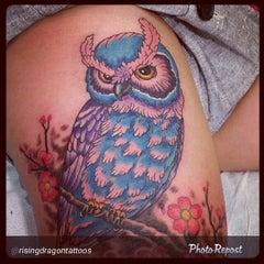 Photo taken at Rising Dragon Tattoos by Cat C. on 4/3/2014
