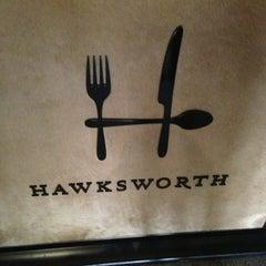 Photo taken at Hawksworth Restaurant by Marvin J. on 2/23/2013