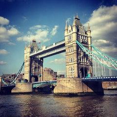 Photo taken at Tower Bridge by Simon S. on 7/8/2013