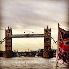 Photo taken at London Bridge City Pier by Deniz T. on 5/21/2013