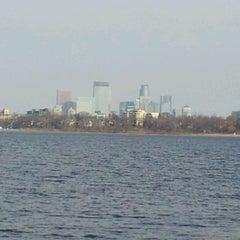 Photo taken at Lake Calhoun by Jennifer-Lyn T. on 11/9/2012