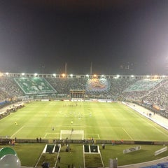 Photo taken at Estádio Municipal Paulo Machado de Carvalho (Pacaembu) by . on 5/15/2013