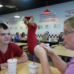 Photo taken at Five Guys by Andy W. on 8/7/2013