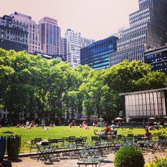 Photo taken at Bryant Park by Erin P. on 6/29/2013